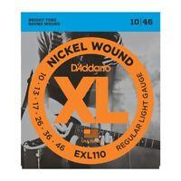 D'Addario EXL110 Electric Guitar Strings 10-46 Regular Light Nickle Wound Round