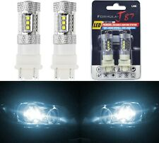 LED Light 80W 4157 White 6000K Two Bulbs Front Turn Signal Replacement Upgrade