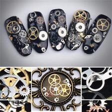 3D Steampunk Mechanical Component Gear Wheel Nail Art DIY Decoration Tips
