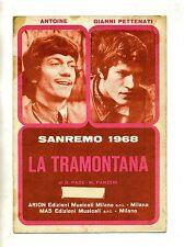 LA TRAMONTANA#Spartito Arion-Mas 1968#Antoine-Gianni Pettenati-D.Pace-M.Panzeri