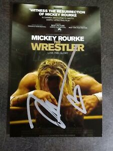 MICKEY ROURKE Authentic Hand Signed Autograph 4X6 Photo - FAMOUS ACTOR
