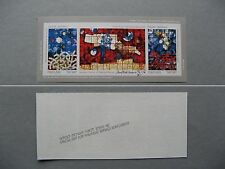 ISRAEL, imperforated S/S 1990, MNH, painted glass Eternal Peace, CV $ 120