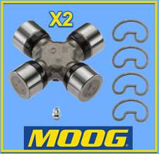 2 X Premium Driveshaft Universal Joint RWD/4WD Moog Greasable Expedited Pair