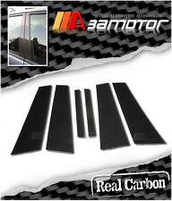 CARBON FIBER DOOR PILLAR PANEL COVERS 6 PCS for 2005-2012 BMW E90 3-SERIES SEDAN
