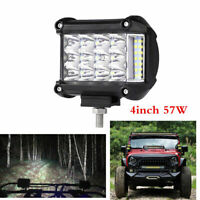 "4"" inch Work Light Bar Tri-Row Spot Flood Fog Driving Lamp Offroad Car Truck SUV"