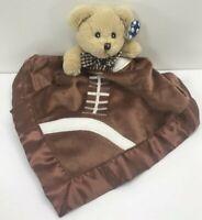 Bearington Baby Touchdown Snuggler Football Brown Bear Security Blanket Lovey