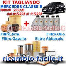 KIT TAGLIANDO MERCEDES CLASSE B W245 180 200 CDI + 5 OLIO Q8 5W30 FINO A 11/2008