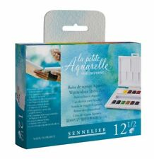 Sennelier La Petite Aquarelle 12 x Half Pan Watercolour Paint Set Travel Box