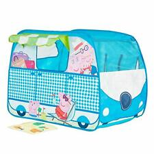 Kids Peppa Pig Campervan Playhouse Pop Up Role Play Tent Fun Adventures Play Mat
