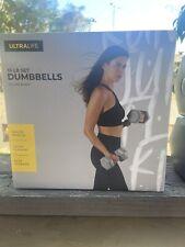 Ultralife 15 LB Set Dumbbells Weights 7.5 LB Each (2) Gray New Gym Training
