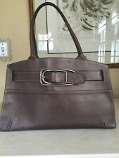 TIFFANY & FRED PARIS GENUINE LEATHER BRONZE PURSE BAG MADE IN FRANCE