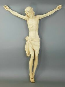 Crucifix Body of Christ Unusual IN Wood Natural CM 100 One Piece
