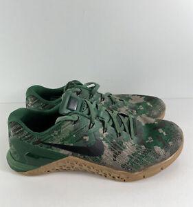 Nike Metcon 3 Green Camo Sz 11 852928-008 Rare Pre Owned