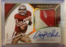 DWIGHT CLARK 05/10 Auto SHARP on card Patch Game Worn DIRTY 2015 Immaculate
