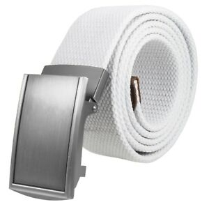 Gelante Canvas Cotton Web Buckle Belt Military Style Adjustable Belt