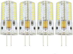 4PC 4W G4 LED Bi Pin Bulb Dimmable AC/DC 12V Halogen Replacement Lights 3-6000k