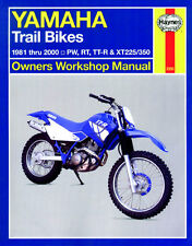 Haynes Manual YAMAHA Trail Bikes 1981-00 TTR XT TTR125 TTR225 TTR250 & XT350