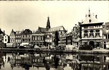 Haarlem Postkarte ~1950/60 Spaarne Oude Waag Uferstraße Autos Häuser ungelaufen