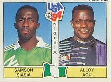 N°205 SAMSON SIASIA / AGU NIGERIA PANINI WORLD CUP 1994 STICKER VIGNETTE 94