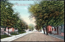 BATH PA Walnut Street South From Main Vintage Town View Postcard Early Old PC