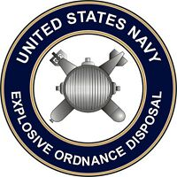 "Navy Explosive Ordnance Disposal  EOD 5.5"" Die Cut Sticker 'Officially Licensed'"