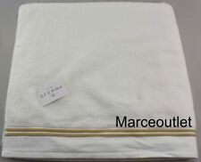 "Sferra Fine Linens Aura 100% Cotton One Bath Sheet 40"" x 70"" White / Almond"
