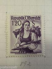 AUTRICHE AUSTRIA, 1958, timbre 892, COSTUME, neuf*, OSTERREICH VF MH STAMP