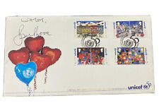 JAMES BOND Signed Autograph- Roger Moore 007 Post Office First Day Cover UNICEF