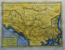 Antique Map of the Balkans and Greece by Christoph Cellarius 1764