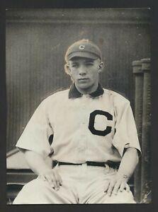 1913 Rookie Billy Southworth Cleveland Indians-Rare Vintage Baseball Photo
