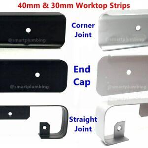 Kitchen Edging Worktop Strip Trim Cap End Corner Straight BULLNOSE 30mm - 40mm