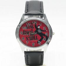 Elvis Presley King Of Rock & Roll Music Leather Analog Quartz Wrist Watch Black