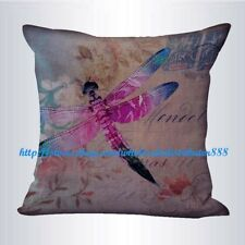US SELLER- modern decorative pillows vintage dragonfly cushion cover