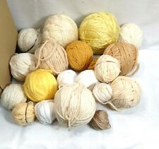 20 balls of yarn over 2 pounds whites yellows