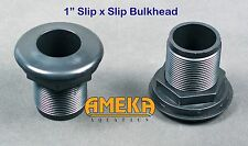 "1"" Bulkhead Fitting Slip X Slip Aquarium Pond High Quality with Silicone Washer"