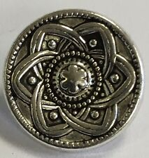 Real Metal Silver Shank Buttons 15mm X 6