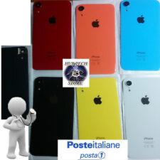 SCOCCA VETRO POSTERIORE per IPHONE XR BACK COVER COMPLETA DI VETRINO E SUPP FOTO