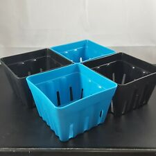 30ct One Pint Square Green Plastic Strawberry Berry Produce Baskets Crafts Gifts