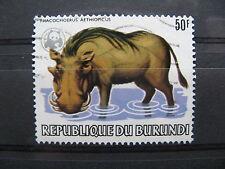 BURUNDI, used  overprinted stamp 1983, WWF warthog
