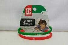 1D 1 Direction Silicone Wrist Bands Bracelets Set Of 2 - I (heart) Liam & 1D New