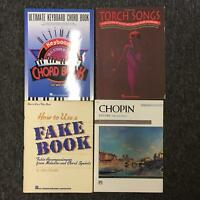 Lot of 4 Torch Songs Ultimate Keyboard Chord Book Chopin Piano Fake Book