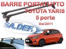 Barre portatutto per toyota yaris 5 porte dal 2011 in poi