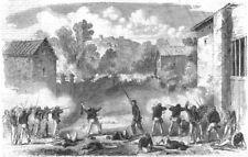 SICILY. Revolution. Sicilian skirmishers attacking Neapolitans at Melazzo, 1860