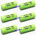 Lot 6 PCS x 2/3 AAA Ni-MH 1.2V 400mAh Rechargeable Button Battery New