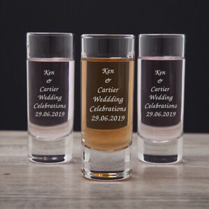 Personalised PACK OF 10 Party Shot Glasses Hen Night Stag Do For Birthday Glass