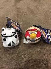 Set of 2 - Angry Birds Star Wars - Luke Skywalker Troop - 7cm - Plush Clip -BNWT