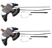 2 x Ultimate Flying Pigeon Decoy + Bouncer Pigeon Shooting Decoying Terminator