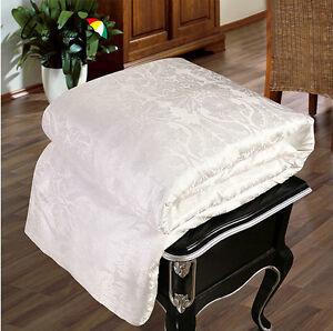 100% Mulberry Silk Filled Comforter Duvet Quilt Coverlet Bedspread Blanket White