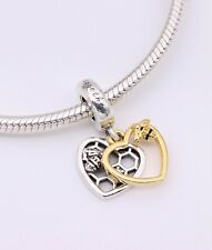 New 2020 Authentic PANDORA Hearts and Bees Dangle Charm #768838C01 w/ Pouch