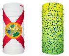 HOO-RAG FLORIDA FLAG AND BULL DOLPHIN MAHI COMBO FACE MASK NECK GAITER UPF 30